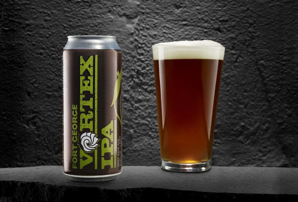 Fort George Vortex IPA, brand and package design