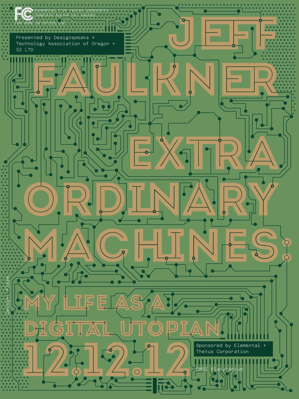 Silkscreen poster, Jeff Faulkner lecture