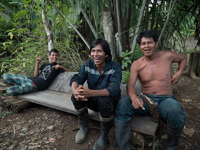 "This is Javier Chinipa, in the middle, from Shintuya Native Community, located in the cultural zone of the national park. A part of the national park, that with proper governmental permits, you are permitted to log. Javier belongs to a community full of loggers, but after one life-changing dream, he decided to stop logging and reforest the jungle - something not perceived as normal by the rest of the community. Today, he stands with two other men (one is the man on the right) who have now stopped logging as full-time employment (do it only for survival) and have concentrated on reforestation. As Javier states, ""Sometimes, I work as a logger, because I need to, to keep my family alive, and cutting very few trees. Only to survive. For every tree I cut, I buy a small plastic bag trees to reforest. I don't like to cut it either, I am not a predator. It's sad for me to see a beautiful tree in the jungle and have to cut it. If I had the money, I would never log. I would enrich the jungle with palm trees and many trees."" 📷: @kyle.mcb"
