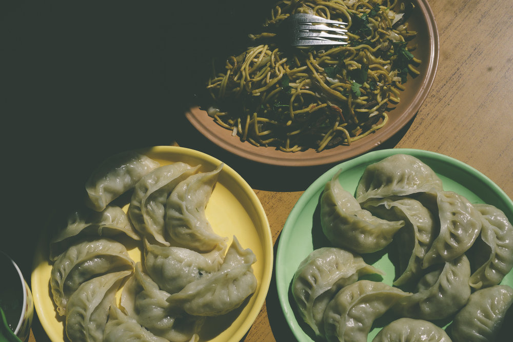 Lamb momos & Chow Mein