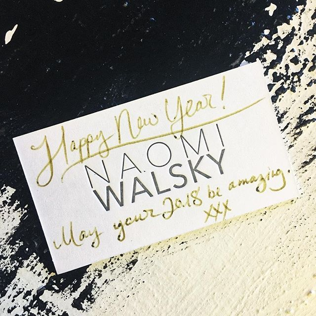 12 New Chapters, 365 New Beginnings, Happy 2018! -NW . . . . . . . #naomiwalsky #nawalsky #happynewyear #ny #2018 #allthelove #fashion #style #design #swiss