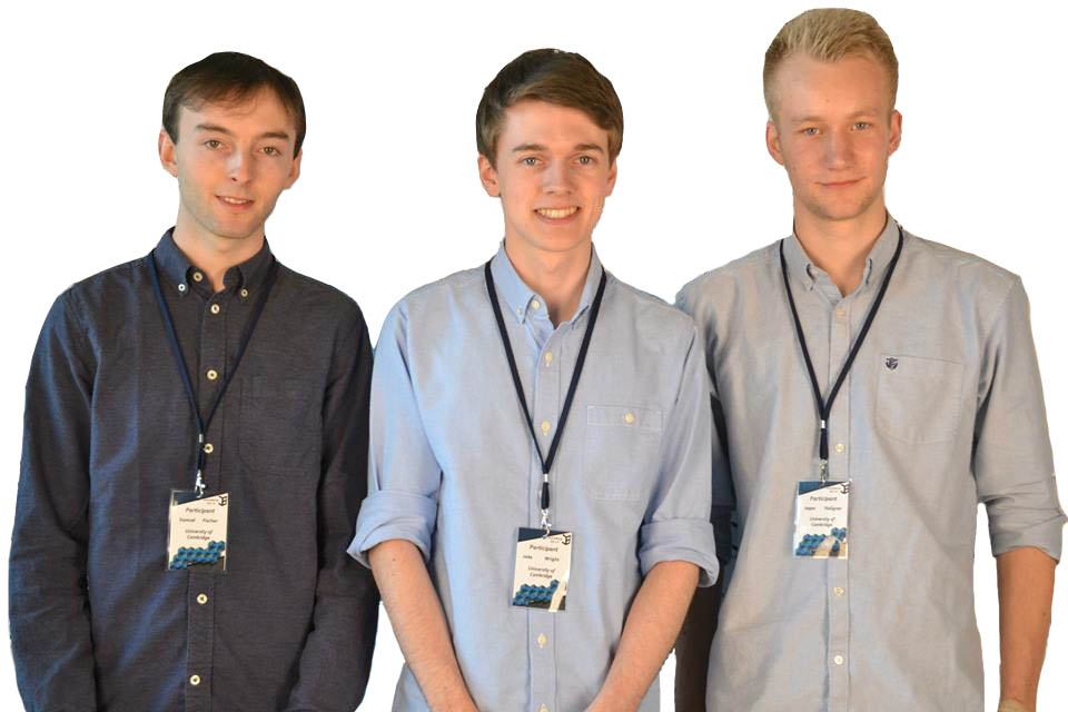 Samuel Fisher, Jake Wright and Jeppe Hallgren, Cambridge University