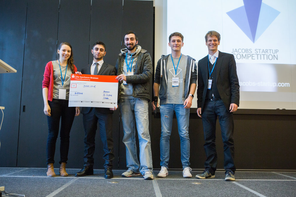 JSC Winner 2016  - InGlove from Free University of Tbilisi and Agricultural University of GeorgiaInGlove is a cutting-edge Virtual Reality product which allows the user to feel temperatures and shapes of unreal objects by wearing an interactive glove.