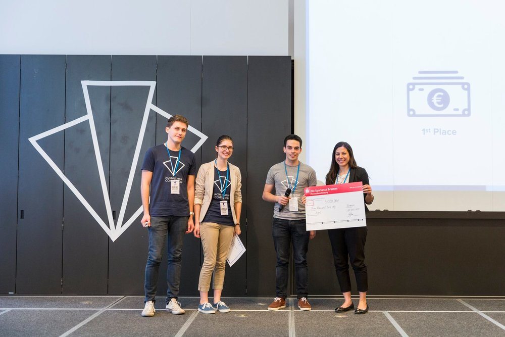 JSC Winner 2017 - Hyre from Carleton UniversityHyre is an online platform that connects event organizers with event staff to revolutionize the event staffing industry by making it fairer and more transparent for both parties.