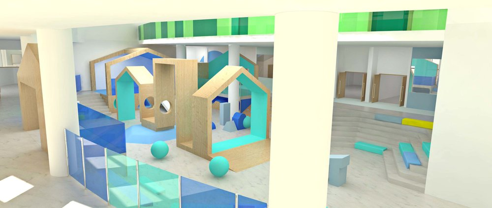 Preview render for play area in school