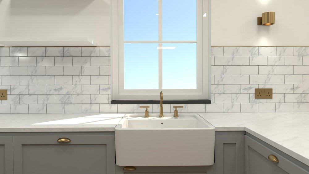 Kitchen Design Rendering
