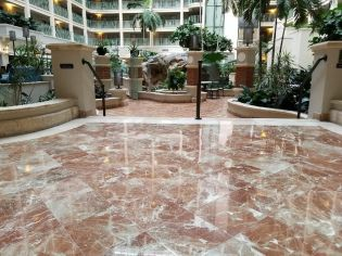Sheraton suites hotel marble restoration