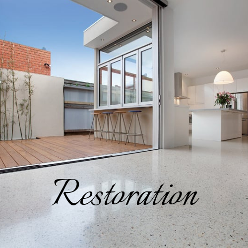 We are specialists in restoring Marble & Terrazzo restoration. Concrete polishing to bring your old floors back to life.   Find out more about restoring your flooring.