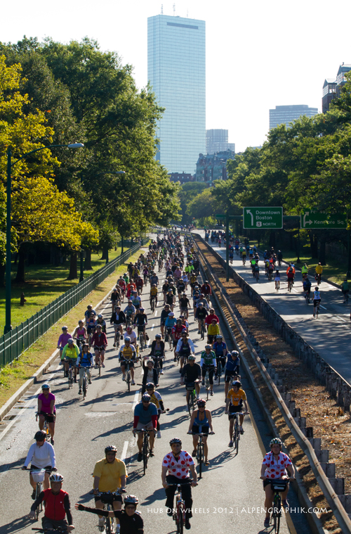 The Tour concludes with Hub On Wheels, Boston's annual cycling festival.