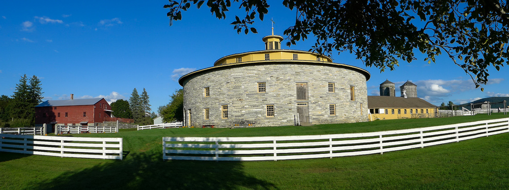 The famous Round Barn at Hancock Shaker Village