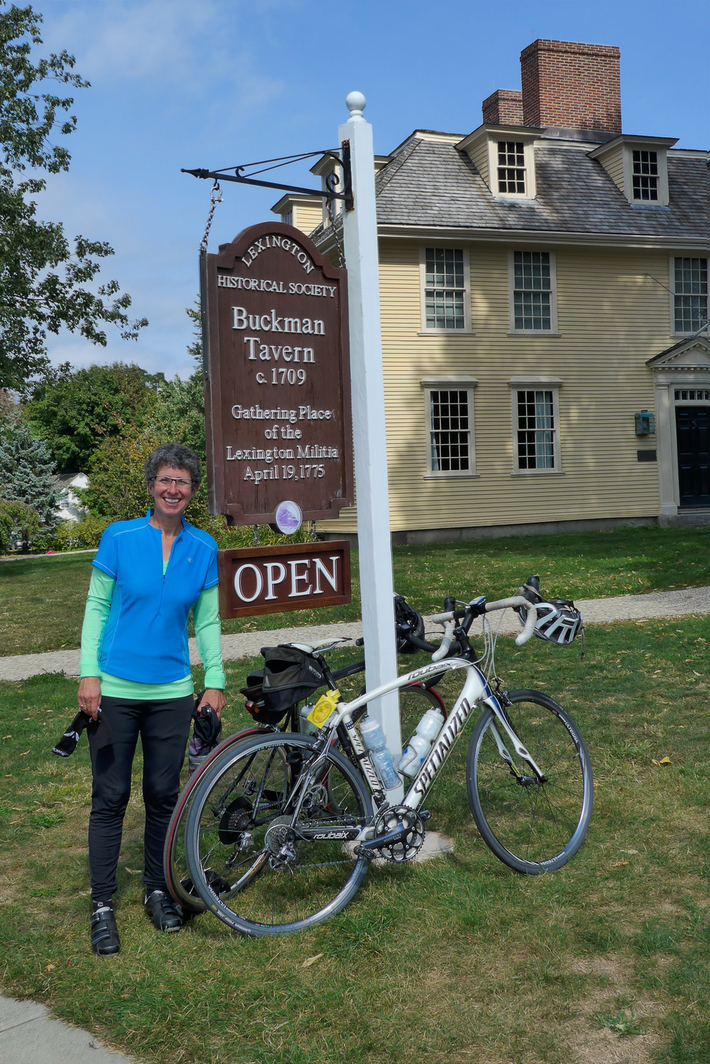 2014 rider Linda Furlani at the Buckman Tavern in Lexington