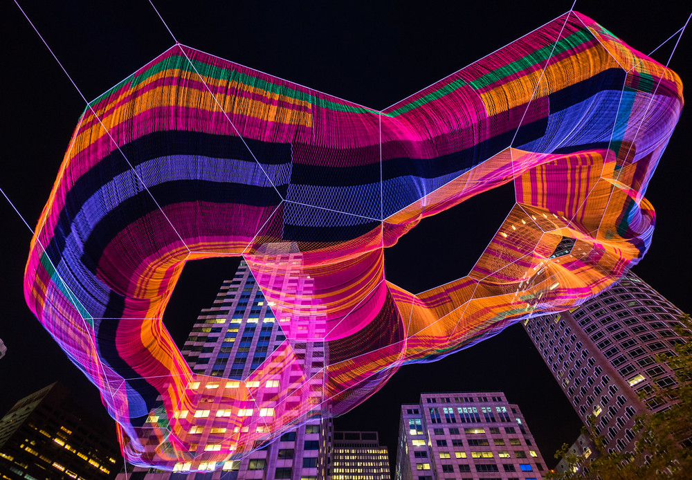 Janet Echelman's As If It Were Already Here