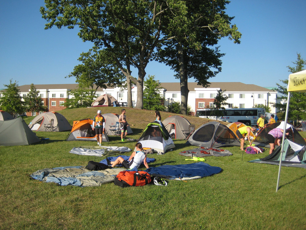 Riders set up camp at Devens