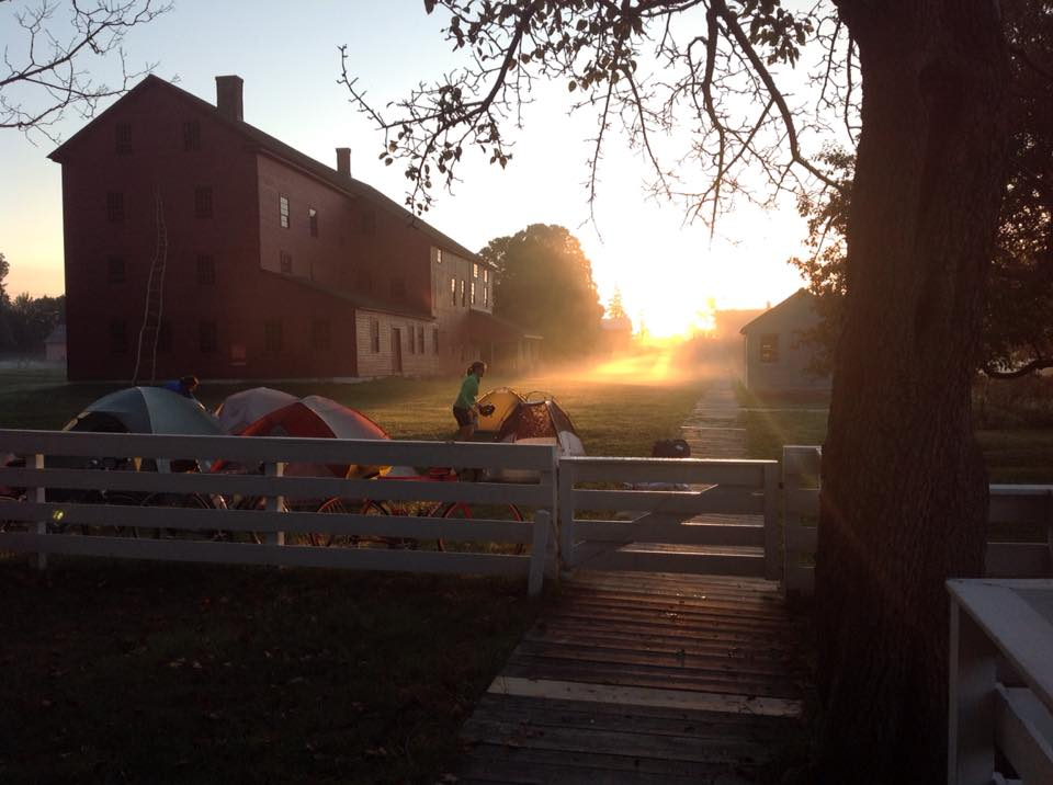 Sunrise at Hancock Shaker village