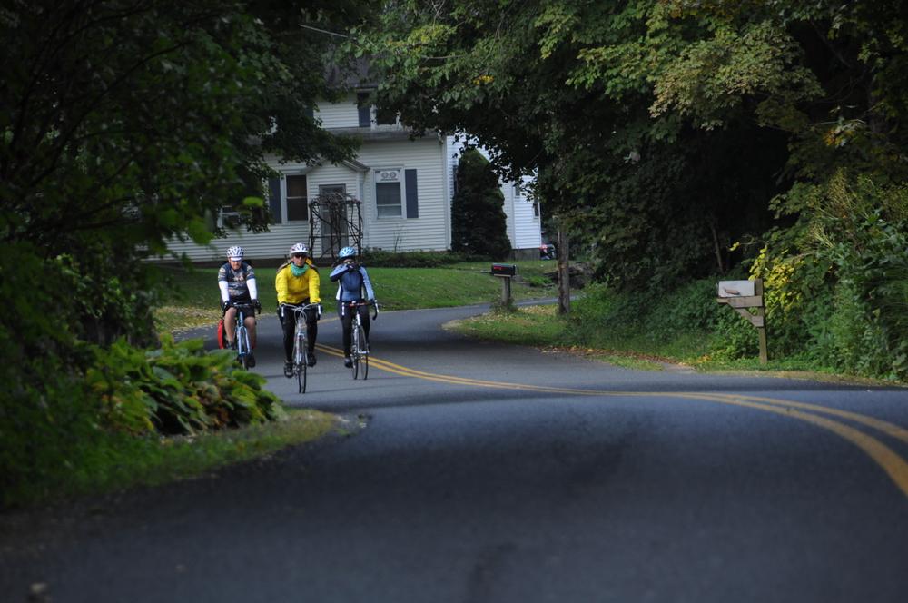 Exploring Massachusett's scenic byways in autumn.
