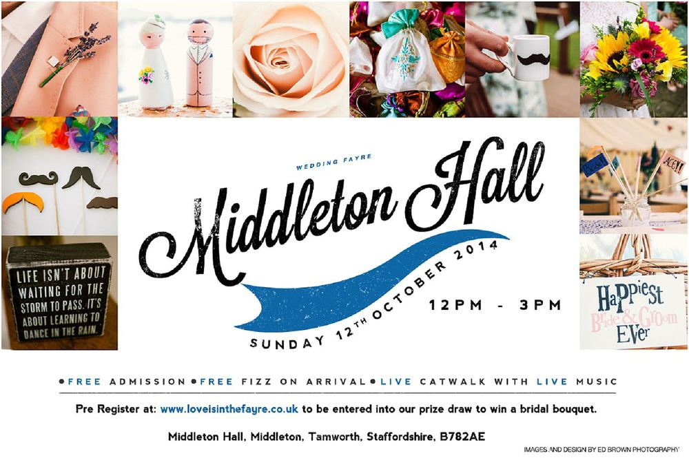 Middleton Hall Wedding Fayre Flyer