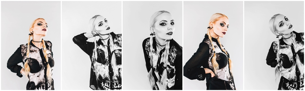 An alternatative fashion shoot with model Eloise Wyatt photographed by Victoria and Edited by Ed Brown
