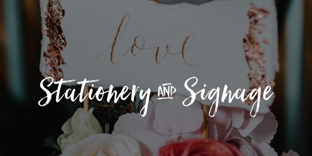 wedding stationery and signage