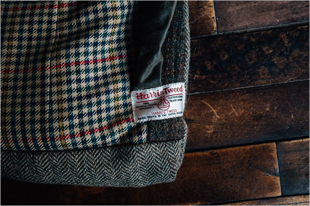 unique harris tweed camera bag