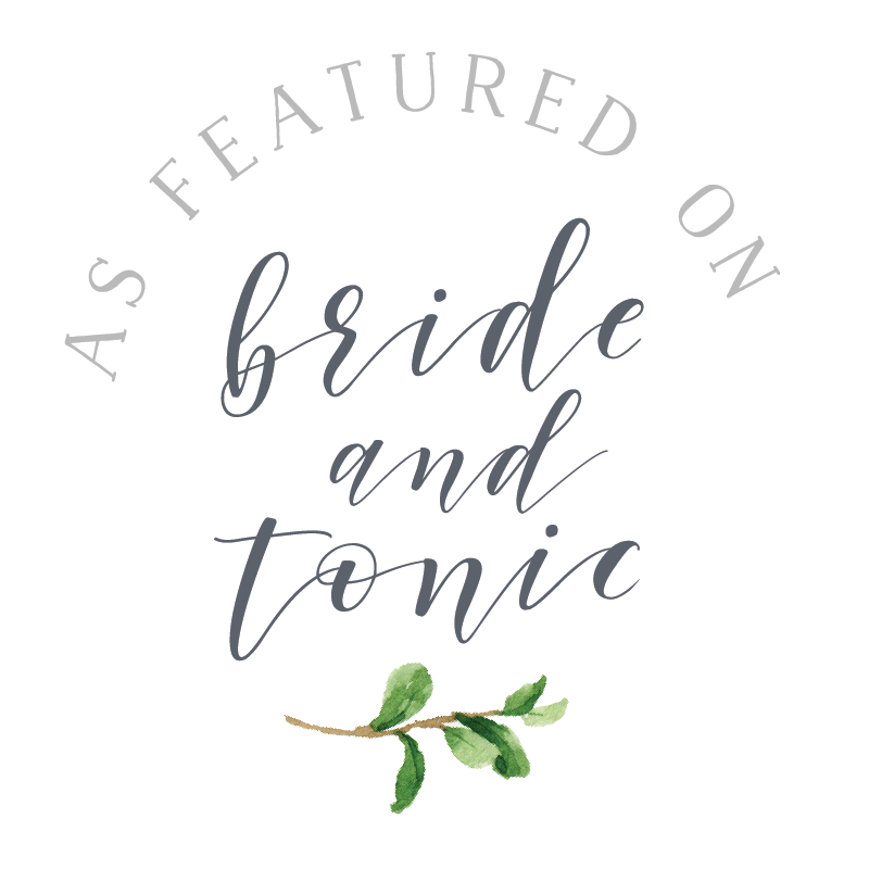 as featured on bride and tonic website