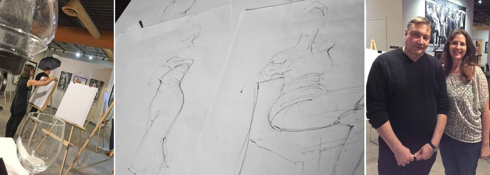 Always a good time to get some live figure drawing in. To sit in a workshop instructed by Charles Malinsky was absolute thrill. His work can be viewed at Artworld Fine Art Gallery or visit his website. http://www.charlesmalinsky.com/