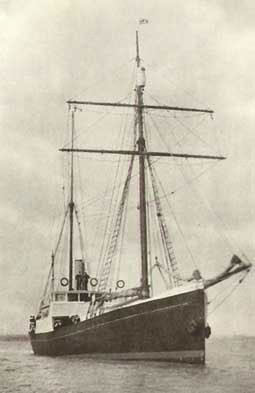 The Quest - Shackleton's ship   on his final trip south.