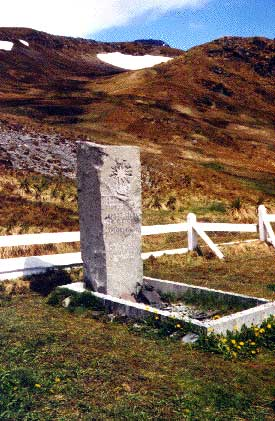 Shackleton's Grave in the Cemetery   at Grytviken, South Georgia