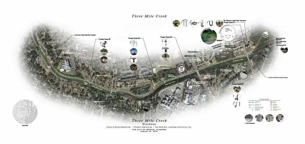 Proposed Three Mile Creek Greenway