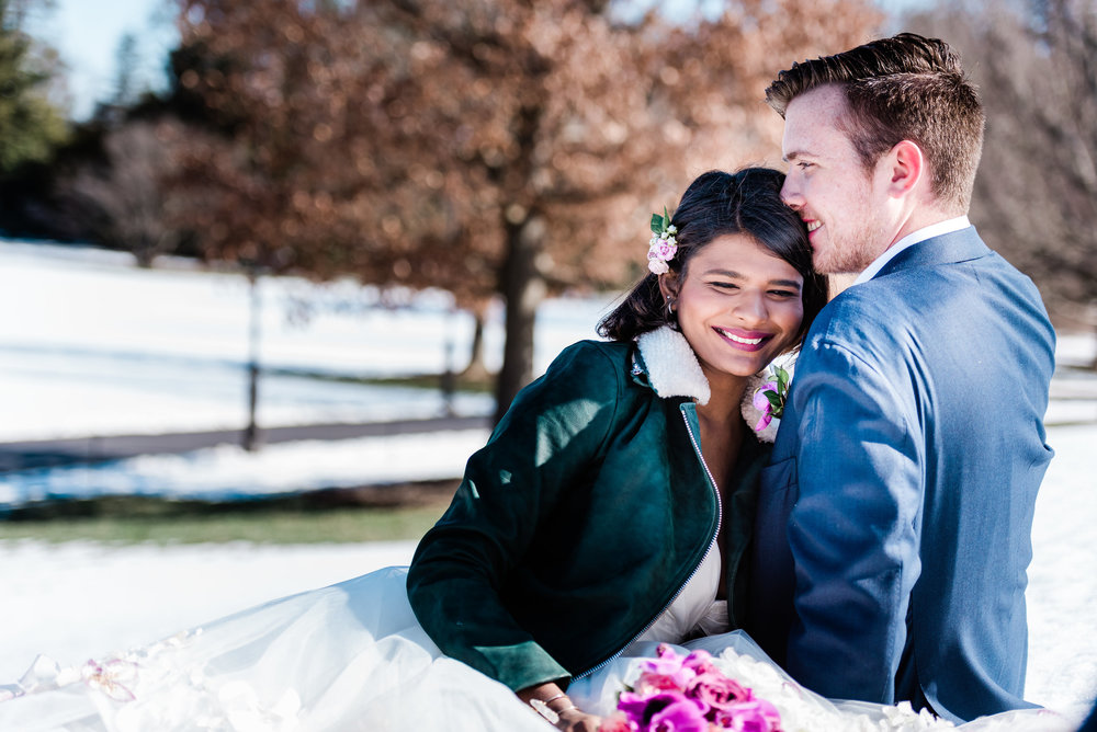 longwood-gardens-winter-wedding-shoot