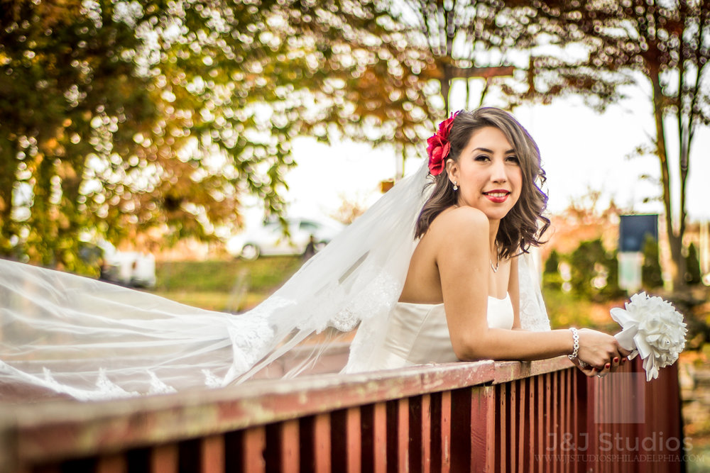 fall-bridal-portrait-sunset