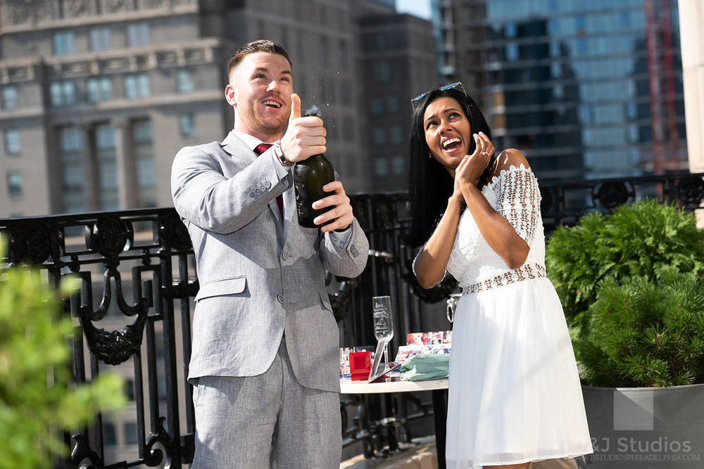 Pop the bubbly Champagne Center City Philadelphia Proposal