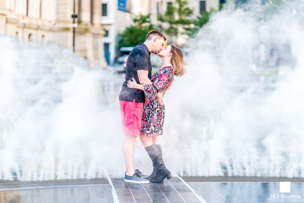 Charming Engagement Session at Dilworth Park