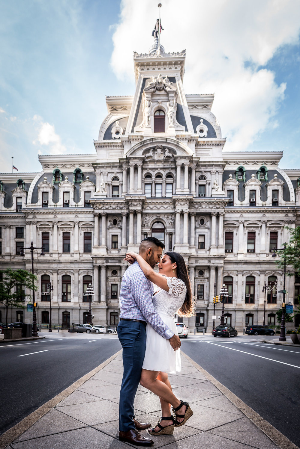 philly city hall engagement session