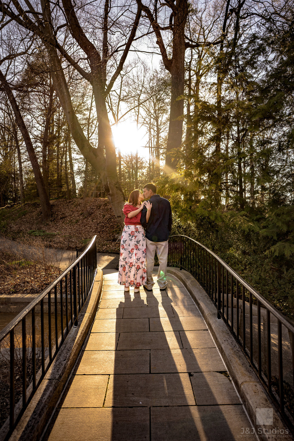 longwood gardens engagement couple