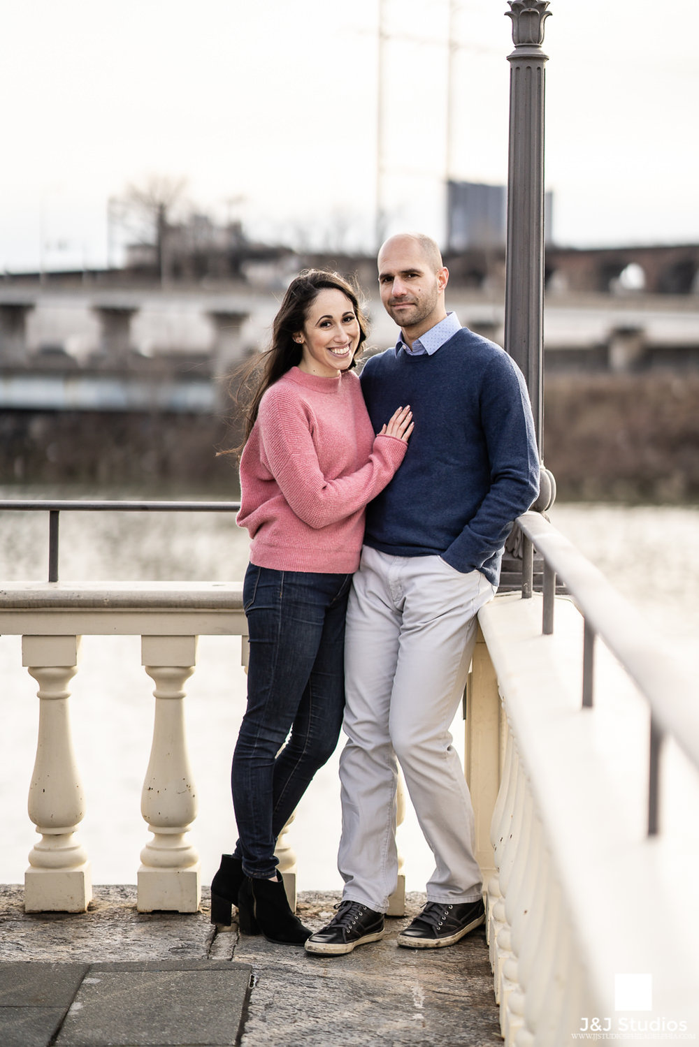 fairmount water works engagement session