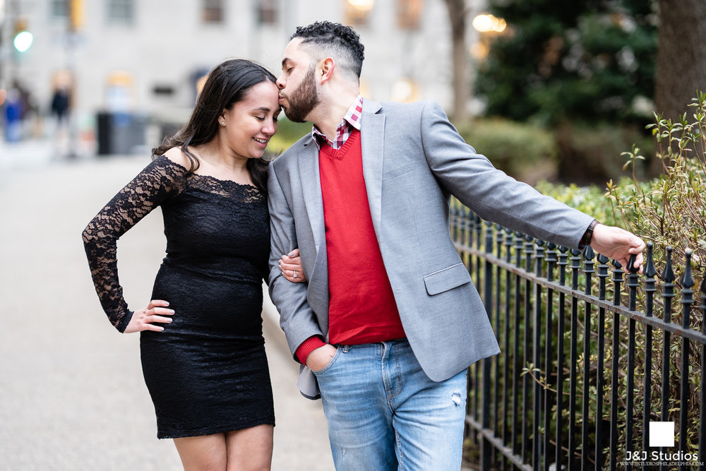 rittenhouse square engagement couple