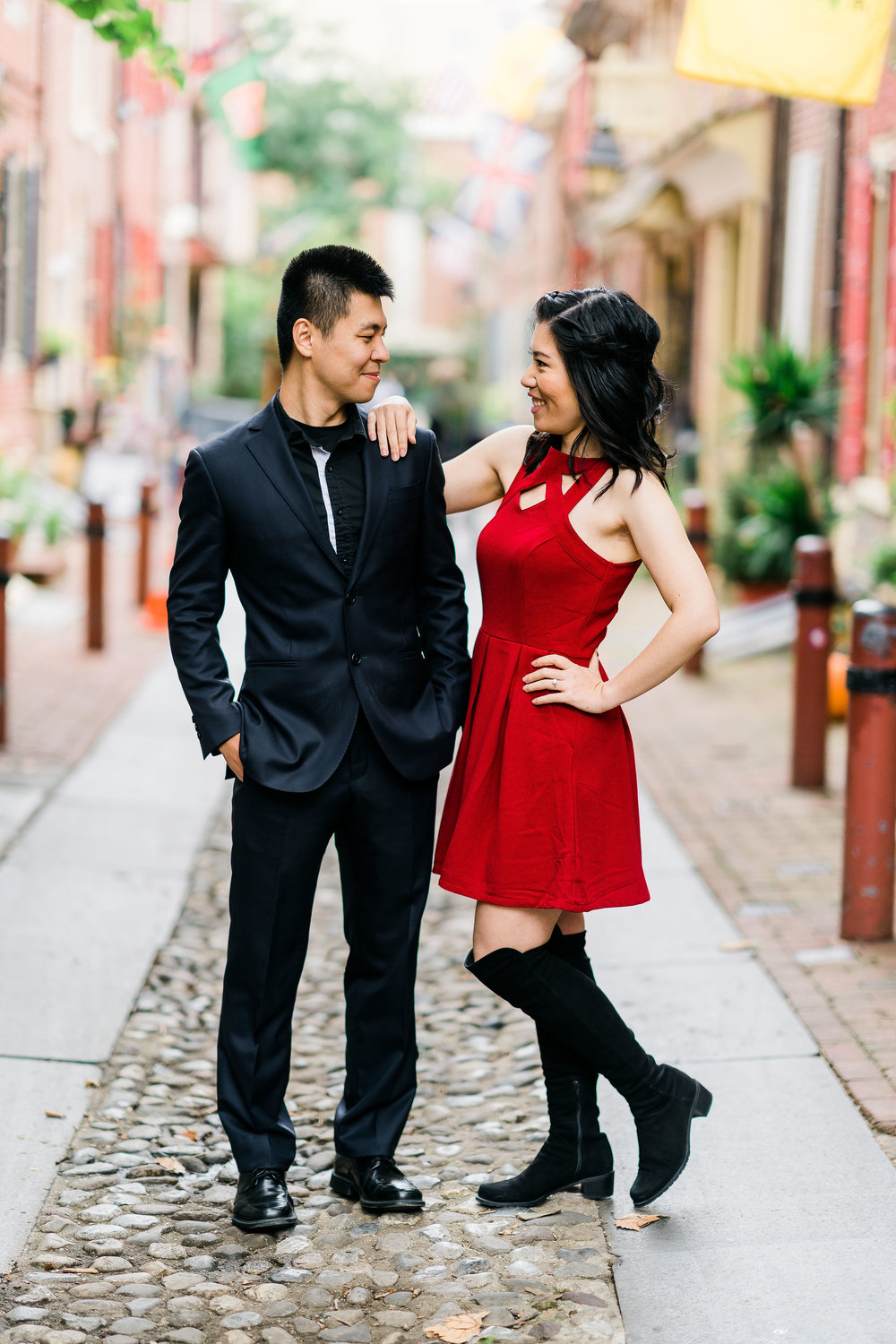 elfreths alley engagement shoot