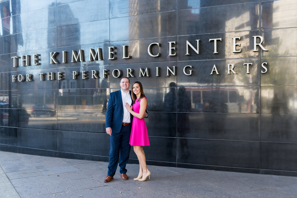 kimmel center engagement shoot couple