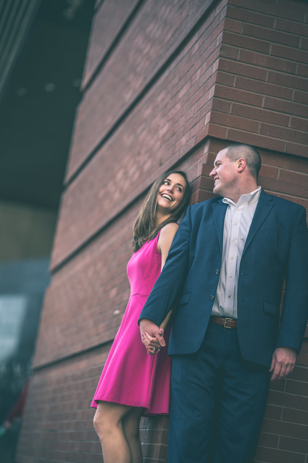 academy of music philly engagement photos