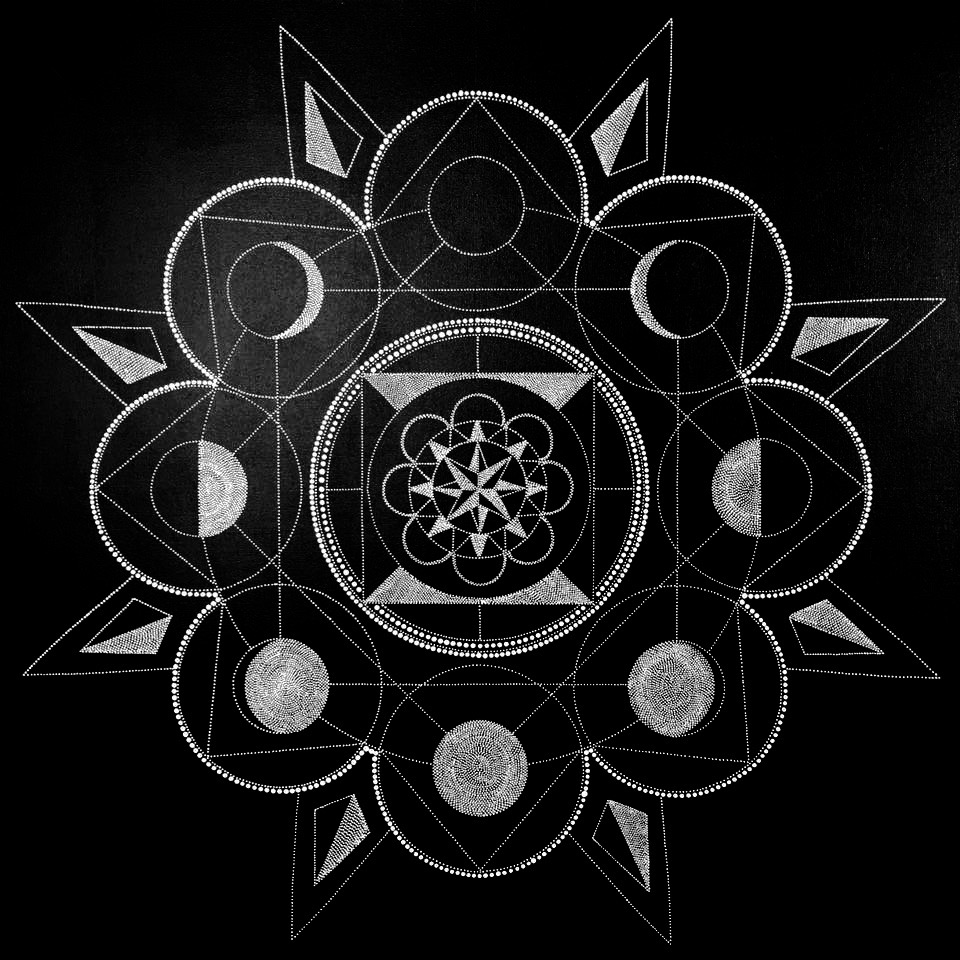 Moon Phases Mandala