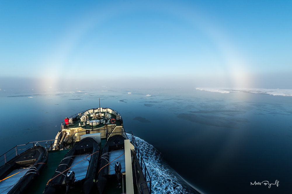 Halo appears from the bridge of M/S Freya