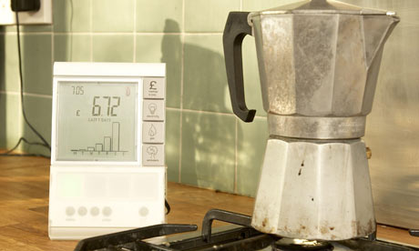 Smart meters will work with real-time energy displays showing energy use around the home. Photograph: Energy Retailers Association/PA.