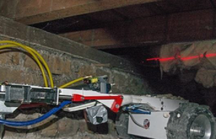 The robot working underneath a London home