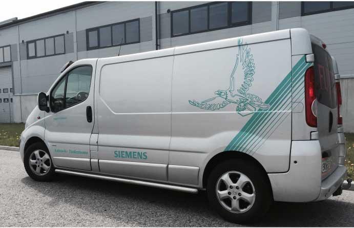 Siemens autoteippaus