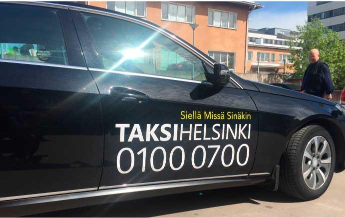 Taksi Helsinki autoteippaus