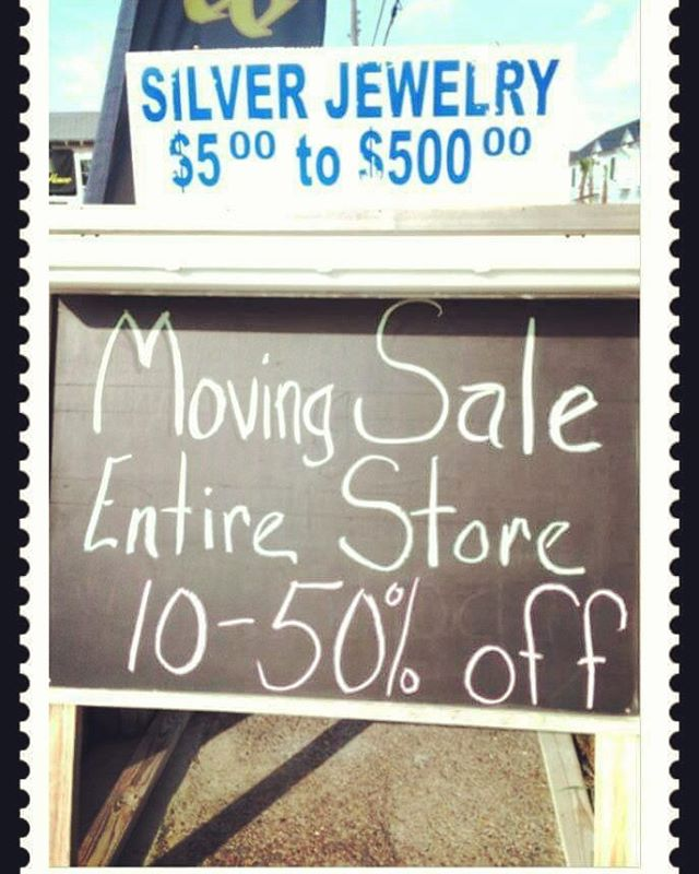 SILVER KING JEWELRY MOVING SALE!  The entire store is 10%-50% off. Open from 9:00am-6:00pm, Mon.-Sat., 10:00-4:00, Sun.  #OldTownCottages #silver #jewelry #PortAransas