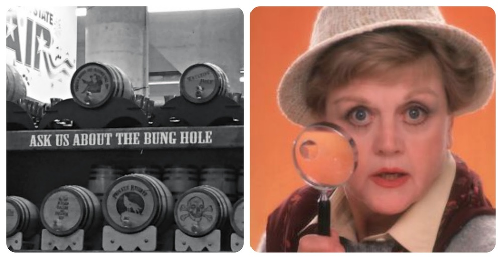 I tried to ask the man about the bung hole. But he was busy with another man's bung hole. And because she deserves it...Angela Lansbury.