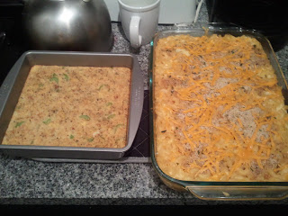 Cornbread Stuffing with Mac and Cheese