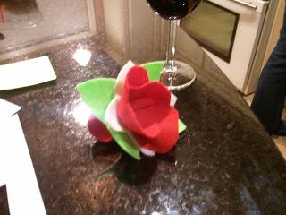 Useful Felt Poinsettia Napkin Ring