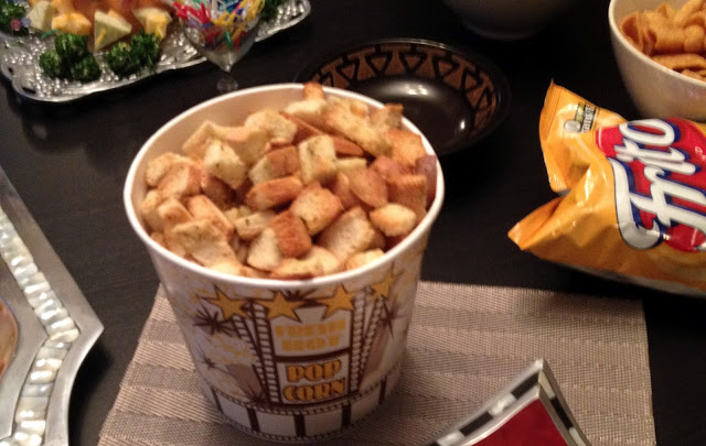 Yes. A bucket of croutons.
